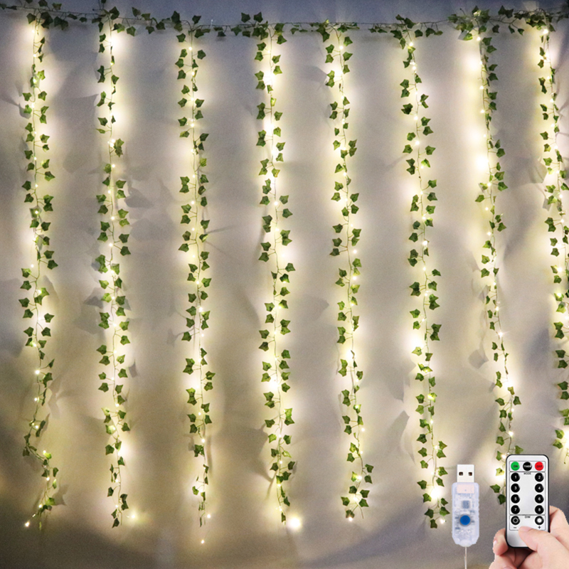84Ft 12Pack Artificial Ivy Garland Fake Plants Vine Hanging Garland Leaf With 200Led String Lights Home Bedroom Party Wall Decor|Holiday Lighting| - AliExpress