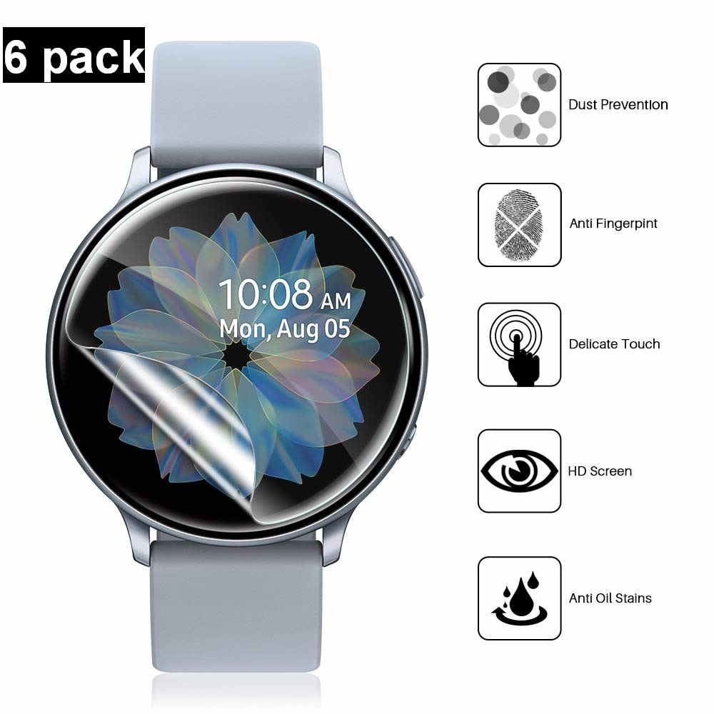Screen Protector For Samsung Galaxy Watch 46mm 42mm Ear S3 Frontier/Classic Active 2 Smartwatch HD Flexible Film Anti-Scratch