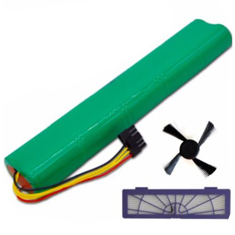 3Pcs/Lot Hepa Filter+Side Brush+Battery 4500Mah 12V Ni-Mh Cleaner Battery for Neato Botvac 70E 75 80 85 D75 D85 Vacuum Cleaners
