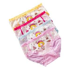4 шт., трусы с рисунком для девочек, детское нижнее белье из модала трусики с принтом Минни Маус детские короткие трусики трусы, размеры От 2 д...