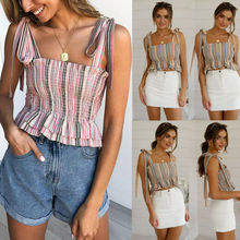 купить Fashion Women Sleeveless Summer Bustier Crop Top Vest Tube Tank Top по цене 416.19 рублей