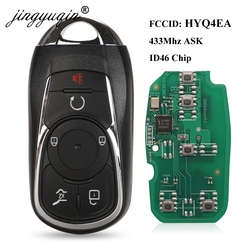 jingyuqin Smart Key Promixity 433MHz ID46 Remote for Buick LaCrosse 2017 2018 2019 FCC: HYQ4EA P/N:13508414 Keyless Go