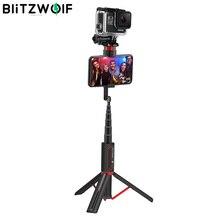 BlitzWolf BW BS10 spor hepsi bir arada kablosuz Bluetooth Selfie sopa katlanabilir Monopod Tripod Selfie sopa kameralı cep telefonları için