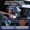 15W Qi Car Phone Holder Wireless Charger Car Mount Intelligent Infrared for Air Vent Mount car charger wireless For iPhone12 pro 3