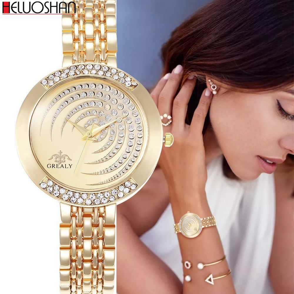 Hot Brand Luxury Bracelet Women Watches Fashion Quartz Crystal Rhinestone Watch Ladies Casual Dress Sport WristWatch Reloj Mujer