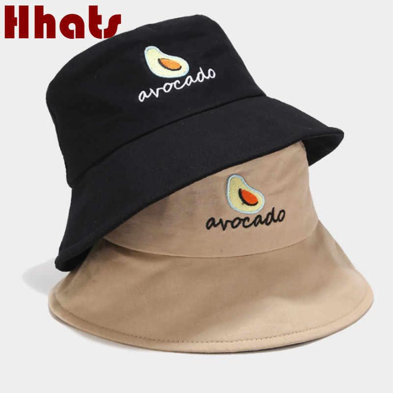 gii6LMLMLFGHLBB Unisex Avocado Pattern Bucket Hat Fisherman Hats Summer Reversible Packable Cap