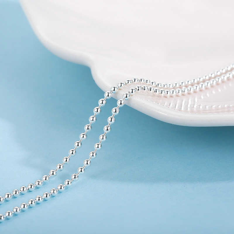 Sa silverage s925 prata colar 16/18 Polegada s925 prata esterlina acessório corrente correspondente