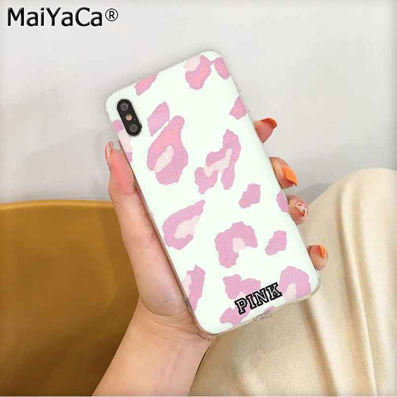 MaiYaCa ROSA NEUE LIEBE ROSA Leopard TPU fundas Telefon Fall Abdeckung für Apple iphone 11 pro 8 7 66S Plus X XS MAX 5S SE XR