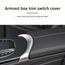 Accoudoir de Console centrale en alliage chromé, accessoires pour Mercedes Benz C GLC classe W205 W253 2015 – 2020
