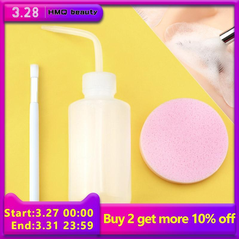 Professional Eyelash Clean Kit Cleaning Brush Washing Bottle Compression Sponge Extension Extension Remover Makeup Tool