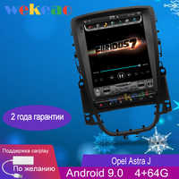 """Wekeao Vertical Screen Tesla Style 10.4"""" 1 Din Android 9.0 Car Dvd Multimedia Player For Opel Astra J Radio Automotivo 2009-2015"""