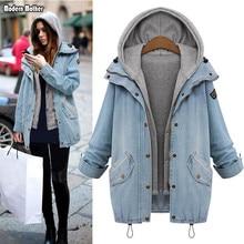 Женская джинсовая куртка, пальто Veste Femme, двухсекционная куртка, весенне-осенняя куртка-бомбер с капюшоном, плюс размер, женский джинсовый жакет, пальто для беременных