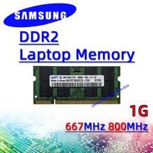 Samsung ddr2 1 ГБ 667 МГц 800 МГц ОЗУ sodimm память для ноутбука pc2- 5300S 6400S 2 ГБ 4 ГБ