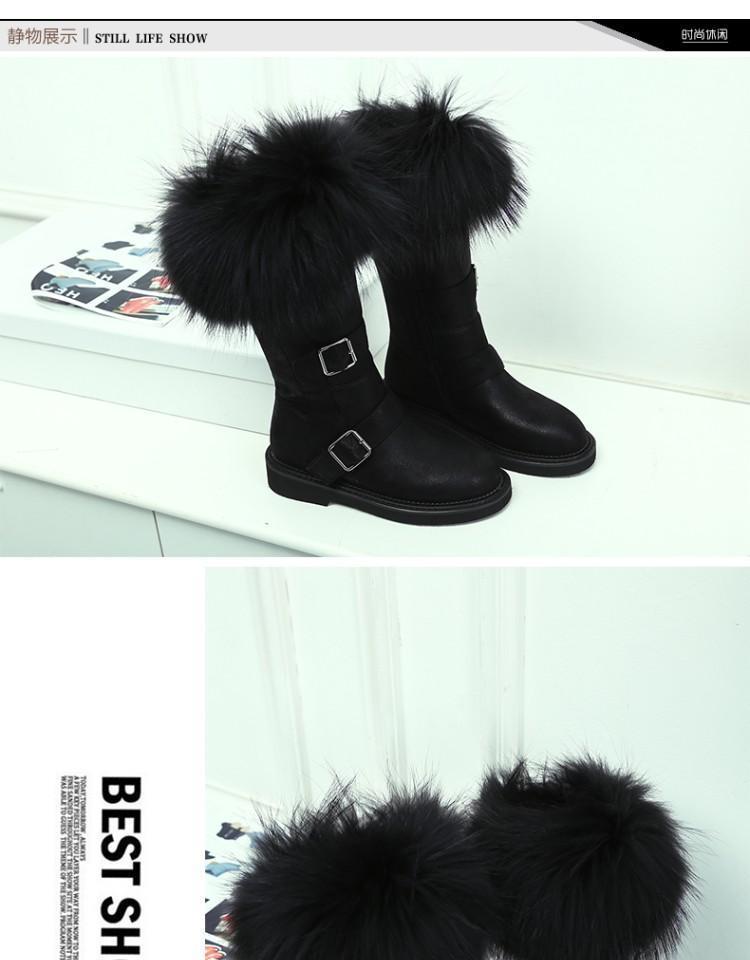 cabelo botas mujer meados de bezerro sapatos