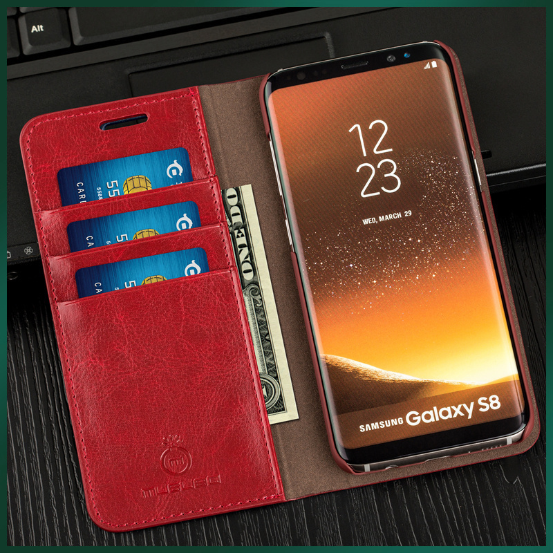 Genuine Real Leather Wallet Card Holder Flip Case Cover for iPhone 6s 4.7 5.5Luxury