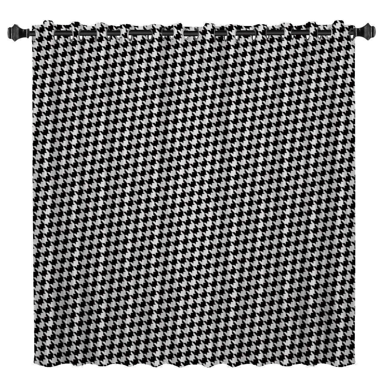 Classic Plaid Window Curtains Dark Window Blinds Bathroom Blackout Curtains Bedroom Fabric Indoor Decor Curtain Panels