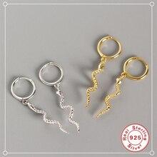 ROXI Fashion Long Serpentine Snake Tassel Stud Earrings for Women's Punk Style Animal Earrings 100% 925 Sterling Silver Earrings