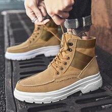 Klassieke Stijlen Mode Sneakers Chaussures Hommes Casual Schoenen Mannen Zapatos Hombre Laarzen Mannen Schoenen Hoge Top Katoen Martin Laarzen