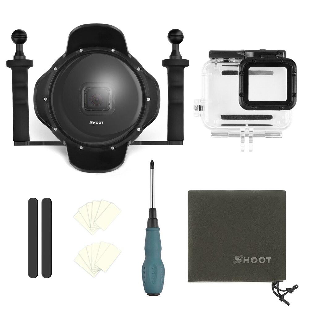SCHIETEN 6 Stabilizer Lade Dome Poort Waterdicht Case Behuizing voor GoPro Hero 7 6 5 Zwart Duiken Dome Cover voor goPro 7 6 Accessoires - 6