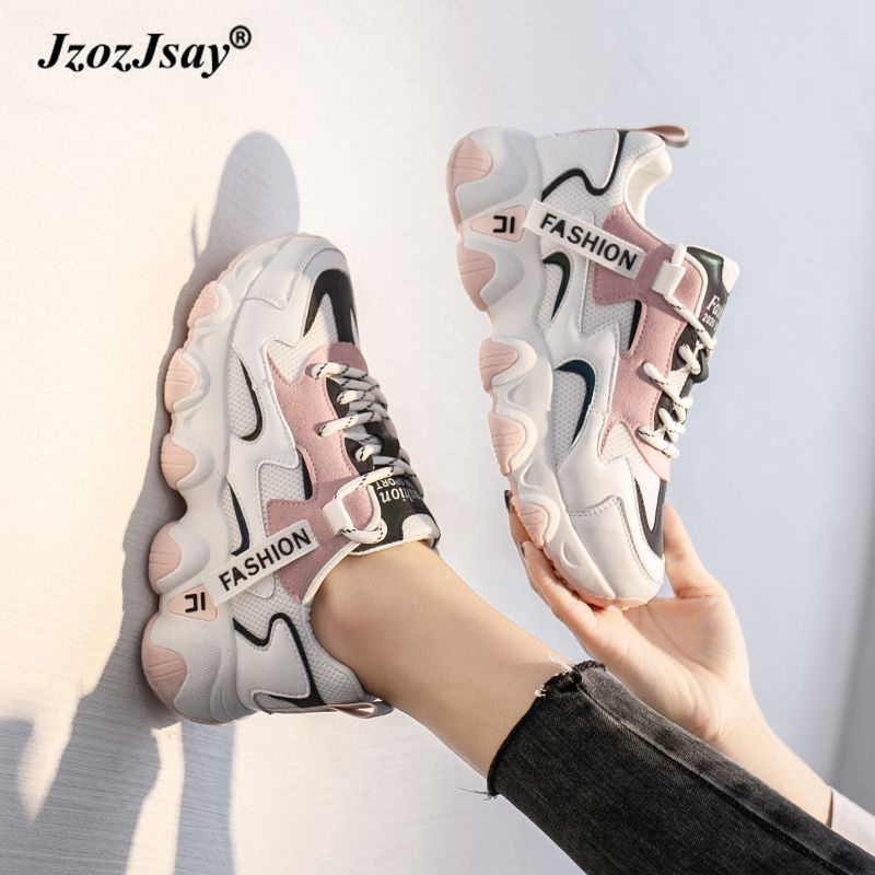 Sport Shoes Women Platform Sneakers For Women Breathable Ladies Casual Shoes Lace Up 2020 Fashion Spring Zapatillas Mujer Casual