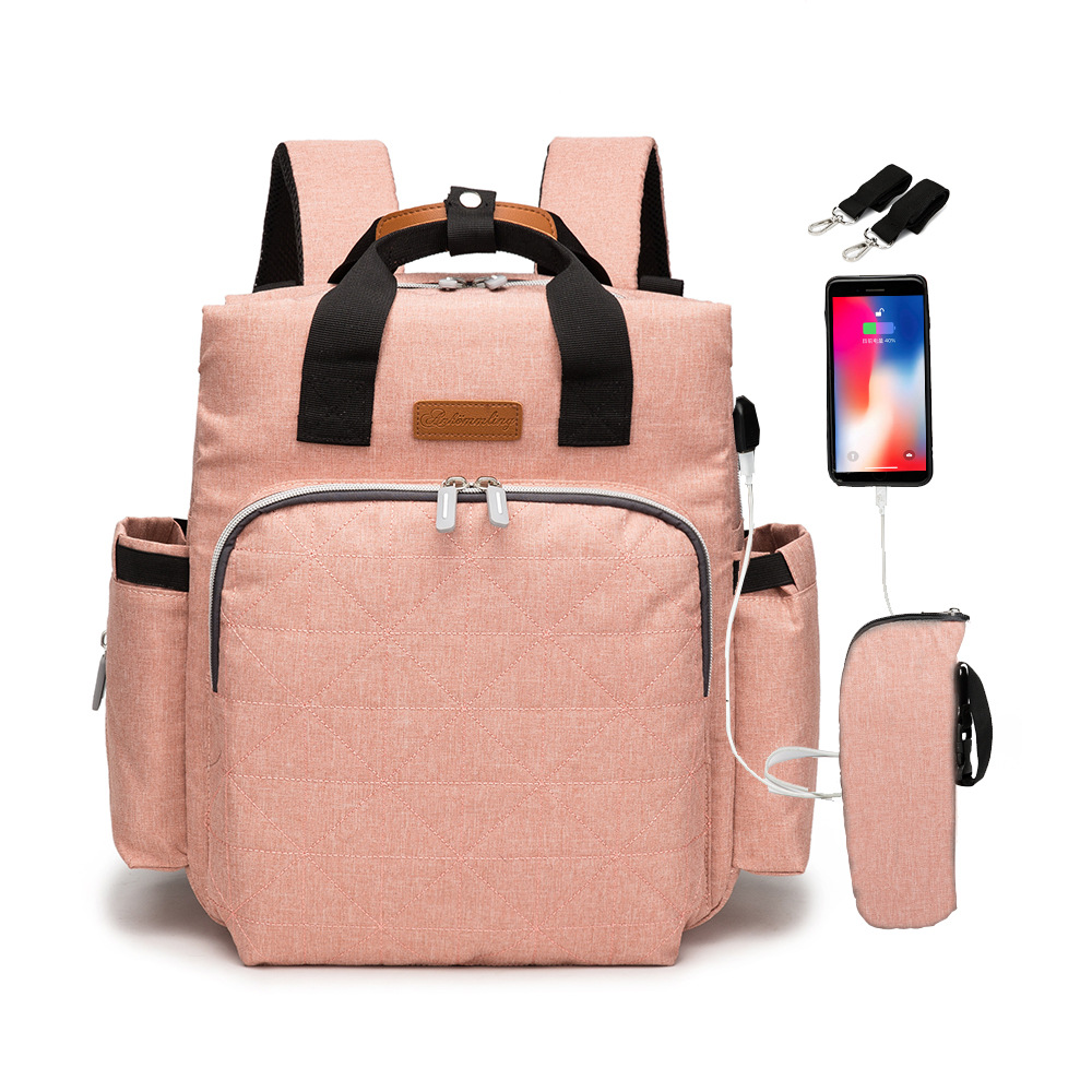 Diaper Bag Baby Mummy Maternity USB Bag For Stroller Diaper  Waterproof Nappy Backpack Nursing Bags With Hooks