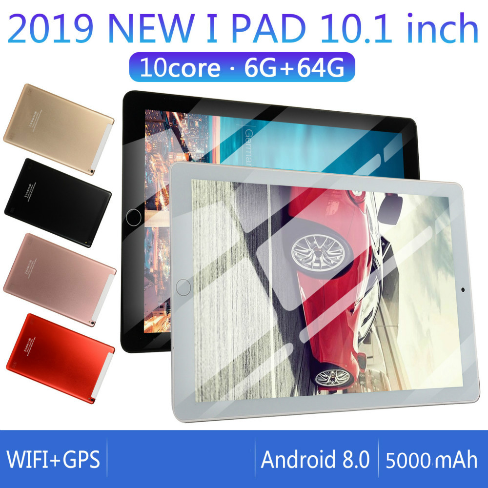 2020 Android 8.0  WiFi Tablet PC 1280*800 IPS Screen 10 Inch Ten Core 6G+128G  Dual SIM Dual Camera Tablet GPS 4G Phone Pad