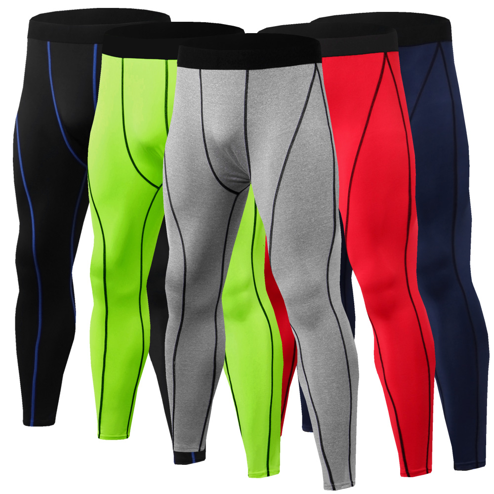 Men/'s Compression Tight MMA Pant Gym Fitness Run Cycling Athletic Wear BaseLayer