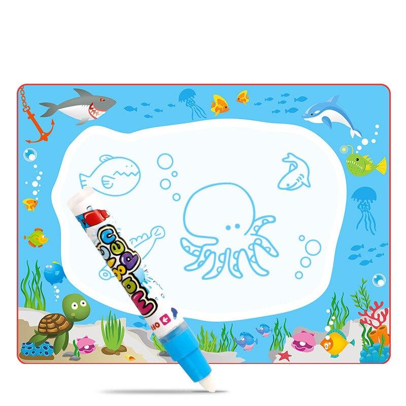 Marine Water Magic Water Canvas 64*48 Graffiti Water Doing Homework Blanket Early Childhood Educational Children Doing Homework