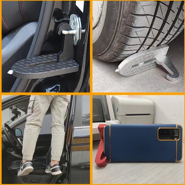 Foldable car door step pedal unive