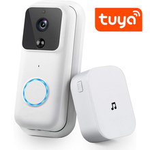 QZT Tuya Smart Home WIFI Wireless Peephole Video Doorbell Intercom Chime Security Night Vision Motion Detector Camera Door Bell