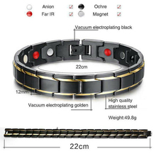 Therapeutic Energy Healing Bracelet Titanium Steel Magnetic Therapy Bangle Bracelets NIN668