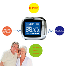 Cold Laser Therapy Watch for Allergy Rhinitis High Blood Pressure Diabetes Health Care Massager advanced therapy allergy cure reliever laser allergic rhinitis treatment anti snore cold laser therapy