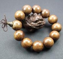 Sprzedaż hurtowa z prawdziwego drzewa sandałowego Vintage mala koraliki bransoletki buddyjski różaniec modlitwa joga medytacja szczęśliwa bransoletka dla kobiet mężczyzn