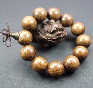 Image 1 - Sprzedaż hurtowa z prawdziwego drzewa sandałowego Vintage mala koraliki bransoletki buddyjski różaniec modlitwa joga medytacja szczęśliwa bransoletka dla kobiet mężczyzn