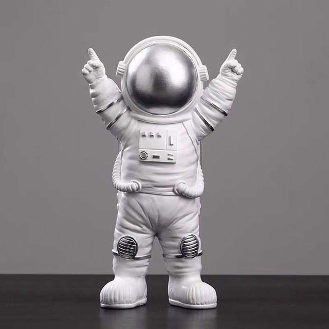 Astronaut Spaceman Creative Statue Car Decor Art Crafts Figurine Abstract Sculpture Home Office Desktop Decoration Ornament Gift 5