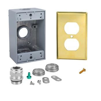 American standard COOPER audio socket bottom box pure copper panel Watt Furukawa socket bottom box T1378