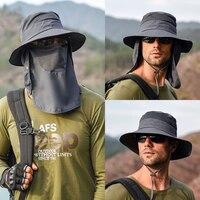Sombrero de pescador multifunción para hombre, sombrero protector contra el sol para escalada, pesca, turismo, Verano