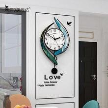 Часы кварцевые бесшумные настенные акриловые украшения для гостиной