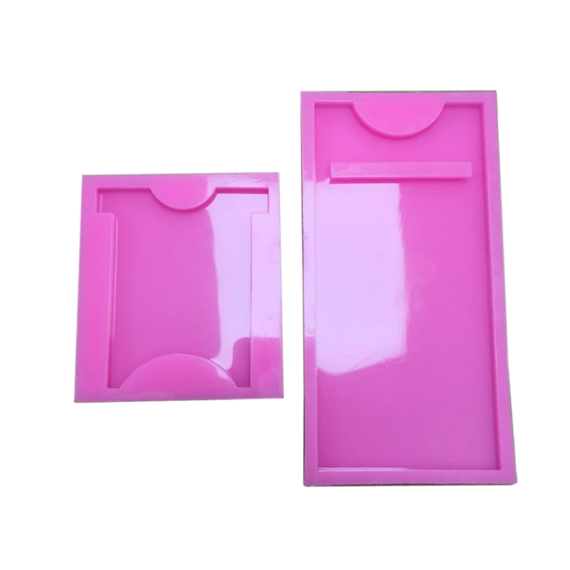 White+Pink Cell Phone Stand Resin Silicone Mold Set Nightstand Table Office Kitchen Home Decoration Cell Phone Bracket Mobile Phone Holder Epoxy Resin Casting Moulds for DIY Craft Supplies