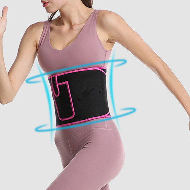 Adjustable Lumbar Support Color Warm Waistband Sweat Waistband Belt Thermal Fitness Sports Protection Band With Pocket 3