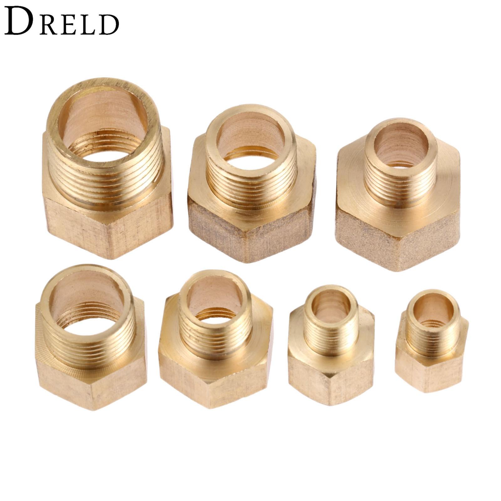 2Pcs Brass Hose Pipe Fittings F/M 1/8