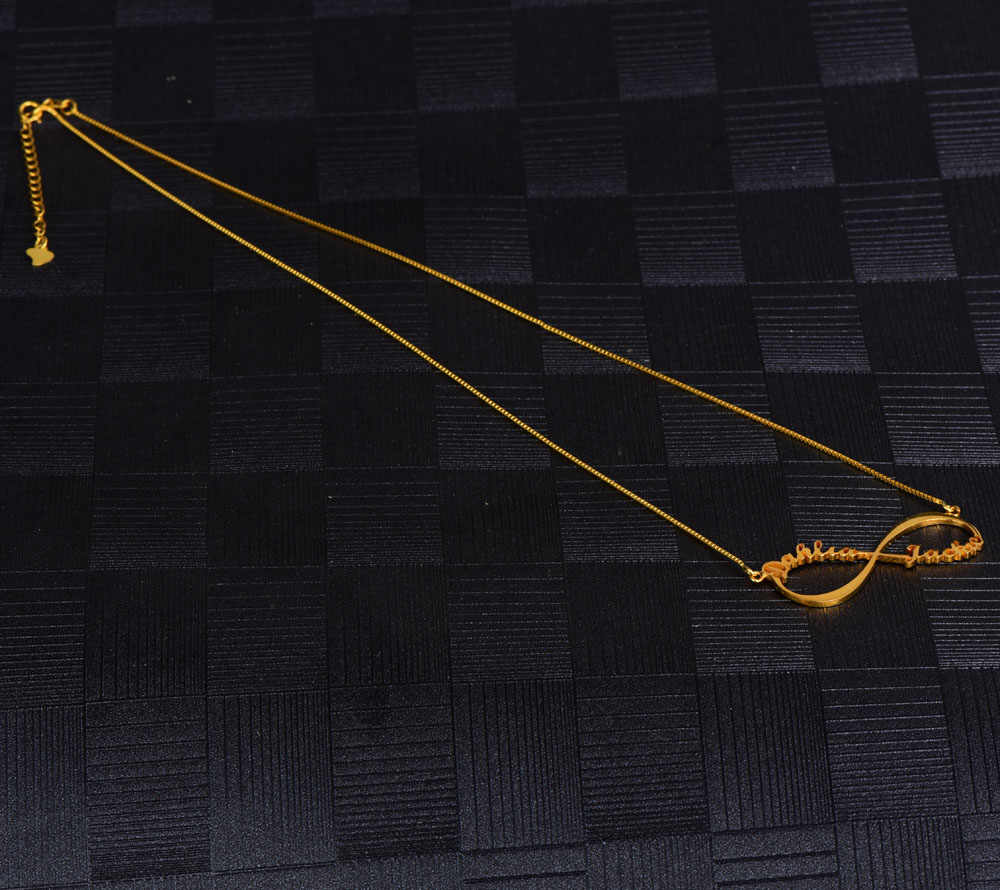 Kustom Namenecklace Huruf Kustom Kalung Pribadi Perhiasan untuk Wanita Stainless Steel Perak Rose Emas Rantai Liontin Kalung