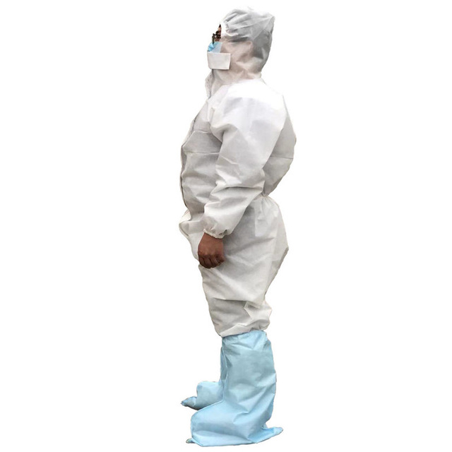 Coveralls Safety Protective Suit Workwear PPE Clothing Protection Hazmat Suit For Outdoors Hospital Laboratory Workshop 2