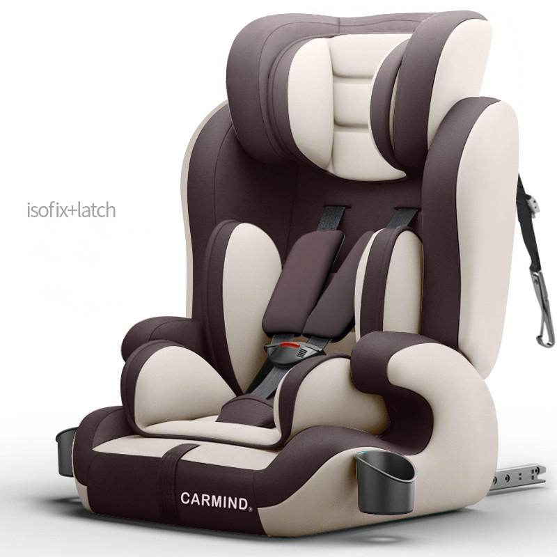2019 CARMIND Child car safety seat with cup holder isofix soft interface car seats for 1-12 years old 9-36KG car seats