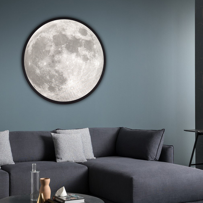 Modern Makeup Mirror With Light Moon Wall Lamp Living Room Hallway Corridor Porch Decorative Mirror Wall Light Creative Gift Best Sale Fac69 Cicig