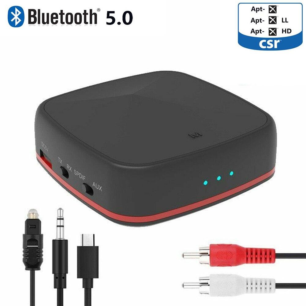 Récepteur émetteur sans fil Bluetooth 5.0 récepteur Audio stéréo HIFI Aptx HD avec adaptateur Toslink/SPDIF/AUX optique numérique