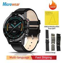 Смарт-часы Microwear L16 мужские с пульсометром и тонометром, 360*360, водонепроницаемые