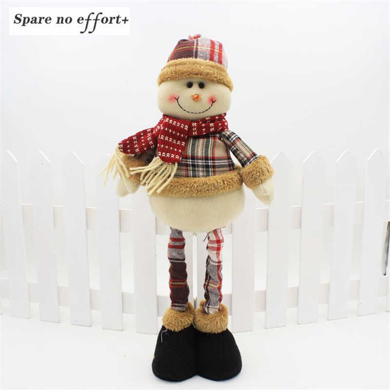 Tahun Baru Natal Dekorasi untuk Rumah Pohon Natal Ornamen Boneka Berdiri Patung Hadiah Natal Navidad 2019