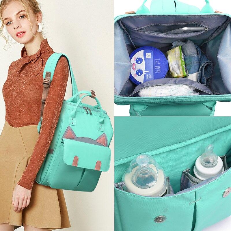 Waterproof Diaper Bag Cartoon Shoulder Bag Multifunction Stroller Bag Large Capacity Backpack Portable Travel Backpack Mommy Bag Diaper Bags     - title=
