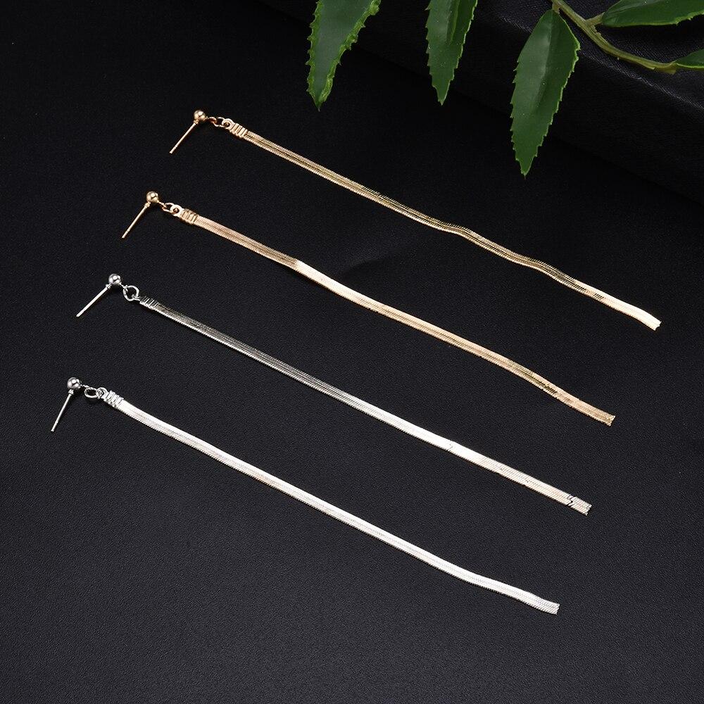 Simple Fashion 2 Color Geometric Long Vertical Bar Earrings For Women Fashion Charm Drop Earrings Jewelry Kolczyki Pendientes